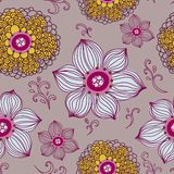 Z kwiatami bezszwowa tekstura Zdjęcie Royalty Free