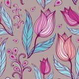 Z kwiatami bezszwowa tekstura Fotografia Royalty Free