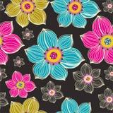 Z kwiatami bezszwowa tekstura. Obrazy Royalty Free
