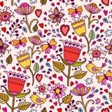 Z kwiatami bezszwowa tekstura. Fotografia Stock