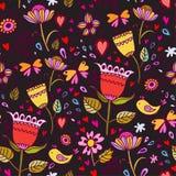 Z kwiatami bezszwowa tekstura. Zdjęcie Royalty Free