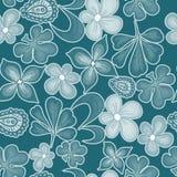 Z kwiatami bezszwowa tekstura Obraz Royalty Free