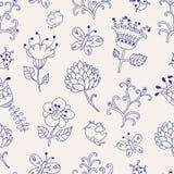 Z kwiatami bezszwowa tekstura. Zdjęcia Royalty Free