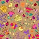 Z kwiatami bezszwowa tekstura. Fotografia Royalty Free