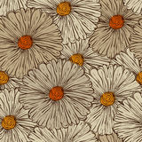 Z Kwiatami bezszwowy Wzór Zdjęcia Royalty Free