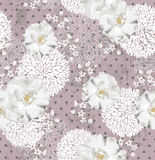 Z kwiatami bezszwowy wzór Fotografia Stock