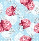 Z kwiatami bezszwowy wzór Obrazy Royalty Free
