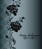 Z kwiatem rocznika tło Obraz Royalty Free