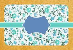 Z kwiatu wzorem papierowa rocznik karta royalty ilustracja