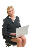 Z laptopem kobiety działanie zdjęcie royalty free