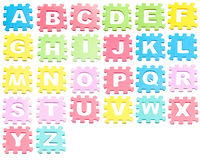 A-Z Learning blocks isolated over white Royalty Free Stock Photography