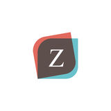 Z letter icon retro logo design. Vintage company sign vector des Stock Photos
