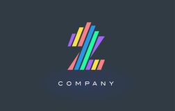 Z Letter Logo with Colorful Lines Design Vector. Rainbow Letter. Z Letter Logo Design with Colorful Rainbow Lines Vector. Rainbow Letter Icon Illustration Royalty Free Stock Images