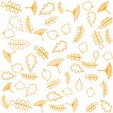 Z liść jesień wzór Wektorowy tło Zdjęcia Royalty Free