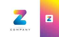 Z Logo Letter With Rainbow Vibrant Mooie Kleuren Z Kleurrijk T Stock Fotografie
