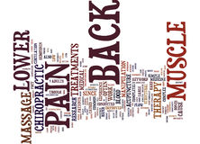 Z Lower Back Muscle Pain Text Background  Word Cloud Concept Royalty Free Stock Image