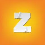 Z lowercase letter fold english alphabet New design Royalty Free Stock Photo