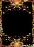 Z luksusowym ornamentem czarny tło ilustracja wektor