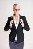 Z męską posturą biznesowa kobieta. Fotografia Royalty Free