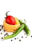Z makaronem czerwony pomidor Fotografia Stock