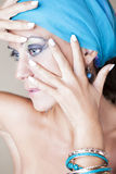 Z makeup piękna kobieta Zdjęcia Royalty Free