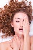 Z makijażem kobiety Twarz Obrazy Stock