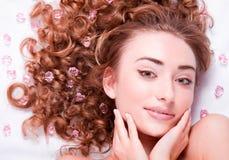 Z makijażem kobiety Twarz Zdjęcia Royalty Free