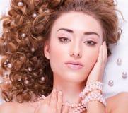 Z makijażem kobiety Twarz fotografia stock