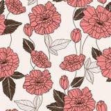 Z makowymi kwiatami wektoru bezszwowy wzór Zdjęcie Stock