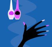 Z manicure'u setem wektorowa ręka ilustracja wektor