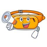 Z megafon talii torbą umieszczającą w kreskówki szafie royalty ilustracja