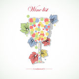 Z menu abstrakcjonistyczną restauracją wino karta Zdjęcia Royalty Free
