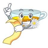 Z menu chamomile herbatą w kreskówka kształcie royalty ilustracja