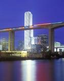 Z Metroline Poręczem Miami linia horyzontu Fotografia Stock