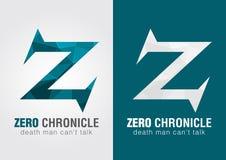 Z mettent le symbole à zéro d'icône de chronicle d'une lettre Z d'alphabet Photo libre de droits