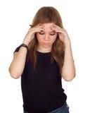 Z migreną agresywna kobieta Obraz Royalty Free