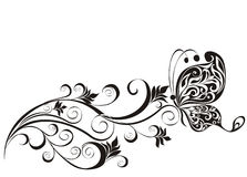 Z motylem kwiecisty ornament ilustracja wektor