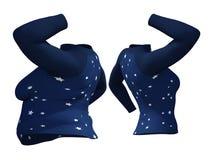 Z nadwagą otyły żeński bluzka strój vs schudnięcia dysponowany zdrowy ciało royalty ilustracja