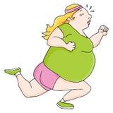 Z nadwagą biegacz Zdjęcie Royalty Free