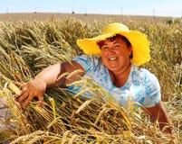 Z nadwagą kobieta cieszy się życie podczas wakacji Zdjęcia Stock