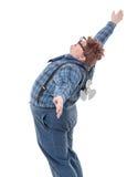 Z nadwagą otyły młody człowiek Fotografia Royalty Free