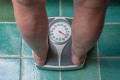 Z nadwagą osoba Obraz Royalty Free