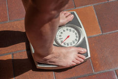 Z nadwagą osoba Fotografia Royalty Free