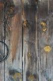 Z naturalnymi wzorami starzejąca się drewniana tekstura Zdjęcia Royalty Free