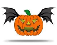 Z nietoperzy skrzydłami halloweenowa Bania. ilustracja wektor