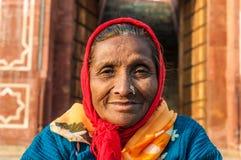 Z nosa pierścionkiem stara kobieta Zdjęcie Stock