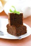 Z nowym liść tortowy czekolada punkt fotografia stock