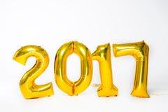 Złoci 2017 balonów Obrazy Stock