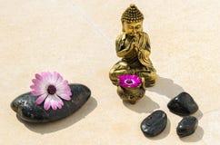 złoci Buddha kamienie Zdjęcia Stock