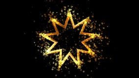 Z?oci dziewi?? wskazuj?ca gwiazda, bahaism religijny symbol na przejrzystym tle ilustracji